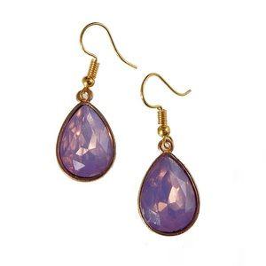 Magical Girl Kawaii Purple Crystal Gem Earrings
